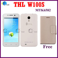 WCDMA Quad Core Android THL W100 W100S Quad Core MTK6582 android cell phone 1.2GHz Android 4.2 Os 8.0MP +12.6 MP Camera 4.5'' Screen In Stock! smartphone