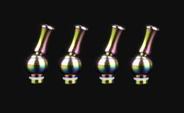 Rainbow Rotating Drip Tip Stainless Steel 510 Long drip tip 360 rotating drip tips Mouthpiece for EGO 510 glass Acrylic Metal Atomizer