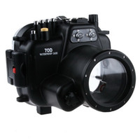 Hard Cases Silicone Waterproof 40M 130ft Waterproof Underwater Camera Waterproof Housing for Canon 70D free shipping