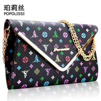 Totes handbags in japan - 5pcsXPoli Si envelope bag handbag new chain shoulder Messenger Bag shipping chains in Europe and America Japan and Korea fashion tide