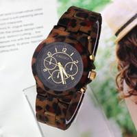 Sport Women's Round Unisex Wristwatches Clock hours Sports Watch Analog KINGSKY Quartz movement New 2014 Leopard Pattern Dropship