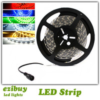 Wholesale 5050 smd led strip light single color pure cool warm white red green blue yellow non waterproof leds m reel