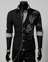 Cheap Casual Shirts printing shirts for mens Best Long Sleeve Cotton for mens casual shirts