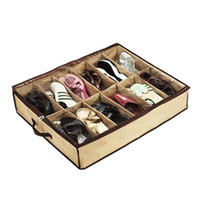 Shoes shoes box design - For Good Live Large Exquisite Designed Transparent Non woven Storage Box Nice Shoe Box Storage Case Closet Organizer HG