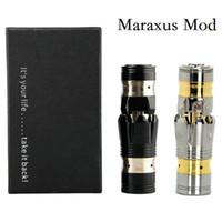 Wholesale Maraxus Ironman Mod Mechanical Mod Clone E Cigarette Black SS Mod Fit Dry Battery Iron Man Mod for Atomizer