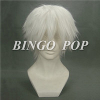 Wholesale Bingo Pop New Arrival Anime Tokyo Ghoul Kaneki Ken Cosplay Wig White Hair Free Hairnet