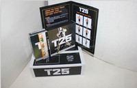 Cheap Focus T25 DVD Workout Set Shaun T's Crazy Body Exercise Fitness Video High Definition With Resistance Band 10 DVDs Slimming Training Set