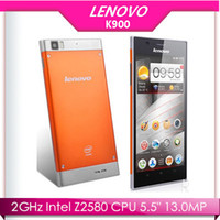 Dual Core Android Lenovo Lenovo K900 Smartphone Intel Powered 2.0GHz 5.5 Inch FHD Screen 2GB 16 32GB Android 4.2 Smart Phone