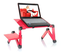 Metal School Furniture Computer Desk Aluminum Laptop Table Folding Computer Desk Bed Table Desk Free Mouse Desk Big Fan 420mm Desktop Black Y4092A21 C21 Alishow