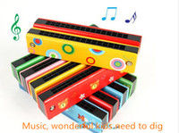Wholesale Classic wooden harmonica harmonica fun for children wooden eco friendly materials good teaching aids Parenting