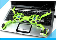 Wholesale Hot selling Mini USB Fan Octopus cooling pad Laptop Fan Cooler notebook stand DZ0004
