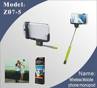 Wholesale stainless stelRemote Camera Control Self timer Z07 bluetooth wireless monopod For Cell Phone s Samsung Glaxy S5 Note HTC Android IOS