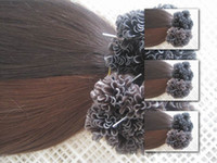 Wholesale 7AGrade Color Prebonded Brazilian U Tip Hair Extension g strand strands Pack Cold Fusion Hair Extension