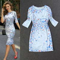 New Arrival Street Style One piece middle- length sleeve Dres...