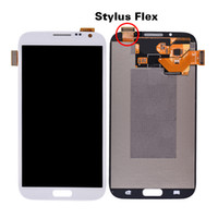 Wholesale For Samsung Note LCD Display amp Touch Screen Digitizer amp Handwriting Paper with Flex Cable for Samsung N7100 N7105 i317 T889 i605 L900