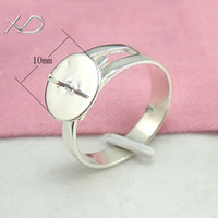 Connectors Jewelry Findings 2.89 g adjustable rings for women,Sterling silver beads disc ring mounting,925 Silver Rings care,wholesale ring settings without stones