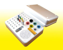 Wholesale new Holes Dental Bur Holder Disinfection Box For Endo Files Gutta Percha Points Silver Quality Guarantee