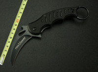 Folding Blade knife  2014 Black Edition Fox Claw Karambit Folding blade knife hunting knife utility camping knife knives Outdoor gear EDC Pocket Knife H