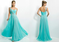 Reference Images One-Shoulder Chiffon 2014 Cheap Blush Sheath One shoulder Crystal Prom Dresses Ruffles 9760 Aqua Beaded Backless Formal Dress Chiffon Ankle Length Pageant Gowns