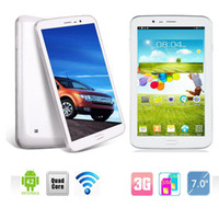 Wholesale Sanei inch MID G706 Quad Core GHz G Phone Call Tablet Dual Camera Dual SIM CDMA GSM MTK8382 GB GB Android Wifi Bluetooth DHL