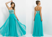 Reference Images Strapless Chiffon New Designer Blush Sheath Strspless Crystal Prom Dresses 9764 Aqua Floor Length Ruffles Beaded Backless Formal Dress Chiffon Pageant Gowns