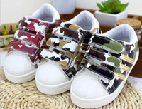 Wholesale Fall New Children s Shoes Low Camouflage For Neutral And Small Baby Boy Girl Casual Shoes Korean Kids Board Shoes pair GX661