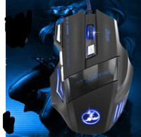 3200 Wired 3D Best Mice 1pc 2014 New arrival OEM USB Wired Optical Gaming Mouse 3200D 7keys Gaming Mice LED Luminous For PC Laptop Free Shipping