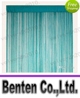 Wholesale Aqua String Curtain Fringe Curtain panel for weddings and events decorationLLFA6080