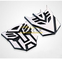 Whole Body aluminum body cars - 20 x Car wheel Aluminum Transformer Decepticon Emblem Sticker Center hub