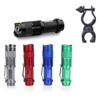 Flashlight Light Holder clamp - 7W LM Mini CREE LED Flashlight Torch Adjustable Focus Zoom Light Lamp with Degree Clip Clamp H10277 H4846