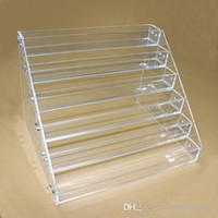 Cheap Acrylic e cig display showcase clear stand show shelf holder rack for 10ml 20ml 30ml 50ml e liquid eliquid e juice bottle needle bottle DHL