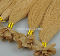 """Brazilian Hair Blonde Straight Blonde straight FLAT tip hair extension 6A Brazilian remy human hair 16""""-34""""inch IN STOCK FREE SHIPPING"""