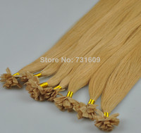 "Indian Hair Blonde Straight 16""-34"" 1g s100g Italian Prebonded Keratin Flat Tip Hair Extensions 100% Indian Remy Human Hair Extension Free Shipping"