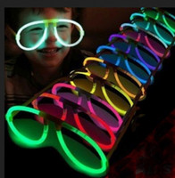 Wholesale Assort Color LED Light Up Eyeglasses Glow Stick Costume Toys For Party Rave