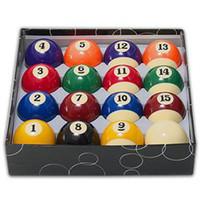 Wholesale 2014 New Deluxe Entertaining Tools Popular Funny Billiard Balls Standard quot or quot Size Full Set Billiard Pool Balls