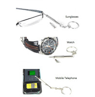 Wholesale 2014 free new brand Mini Screwdriver Glasses brand Professional Eyegalsses Multi Function Keychain eyewear glasses accessory