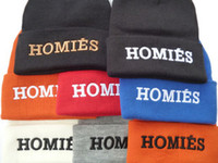 homies - 2015 brand hat men new black red blue grey Hot Selling New HOMIES Style Fashion Men Women Skull Beanie Hat Winter Fall Hiphop Warm Cap
