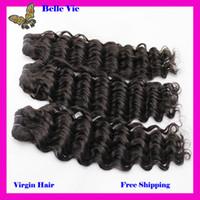 Malaysian Hair Curly human virgin hair  Hair Closure 4 Bundle Hair Kinky Curly Hair Extensions Virgin Malaysian Hair Top Closures(4x4) Natural Color Bellahair Hair Wefts&Weaves