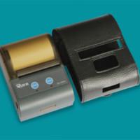 Wholesale 58mm mini bluetooth printer belt leather case