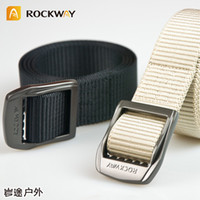 Wholesale Brand new khaki wear resistant nylon patent design alloy buckle military men luxury belt pc poly box