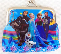 Wholesale New Girls D Cartoon Frozen Coin Purse with iron button Anna Elsa Olaf shell bag wallet Purses children child Gifts For Holidays Christmas