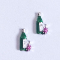 Wholesale Wine bottle floating charms fit your glass living locket FC031