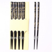 Bamboo wood dragon - 2014 New Pairs Chinese Vintage Antique Wood Dragon Family Bamboo Chopsticks Tableware