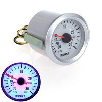Wholesale Turbo Boost Vacuum Pressure Gauge Meter for Auto Car quot mm in Hg PSI Blue LED Light