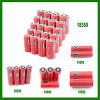 Electronic Cigarette   AW IMR 18350 18490 18500 14500 18650 battery for Mechanical Mods Itaste Vamo Nemesis King Manhattan Hades Dry batteries DHL 0204069