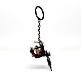 Wholesale 1PC Gunmetal Mini Tattoo Machine Key Chains amp Key Ring cmx4cm quot x1 quot