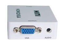 Wholesale New Mini HDMI VGA hdmi to vga P white colors