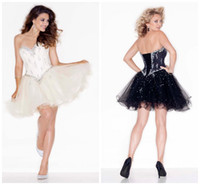 Organza short strapless dress - 2015 Short Prom Dress Fashion Stunning Crystal Sequins Homecoming Dresses Sweetheart Short Mini Graduation Cocktail Young Girls s Prom Gowns