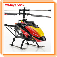 WL v913 Electric Wltoys V913 With 2.4Ghz 4CH Single Blade Screw Brushless Motor Gyro Remote Control RC Big Size Helicopter Toys Gifts