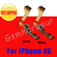 Wholesale For iPhone original Charging Port Dock Connector Ribbon flex cable Black